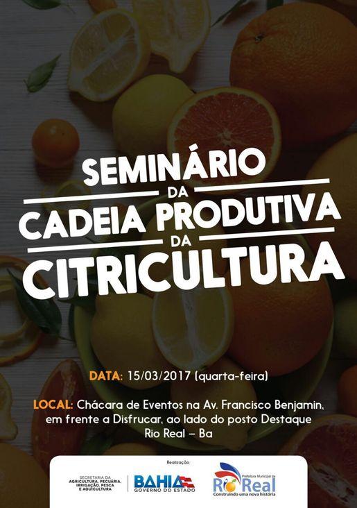 Seminário da Cadeia Produtiva da Citricultura