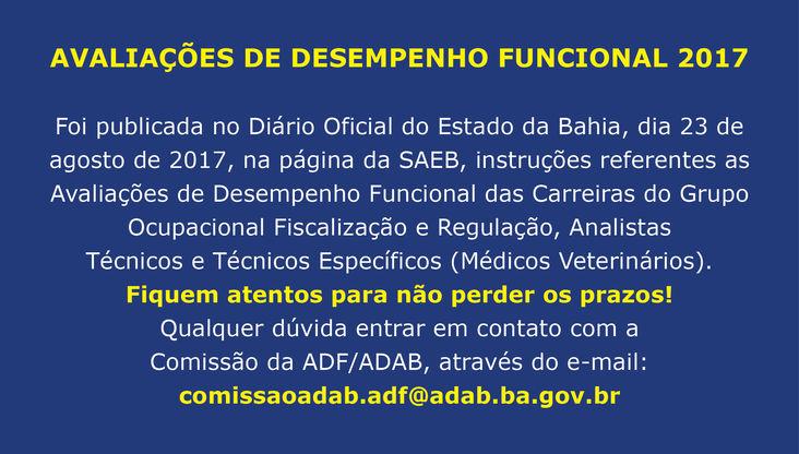 AVALIAÇÕES DE DESEMPENHO FUNCIONAL 2017