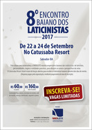 8º Encontro Baiano dos Laticinistas, de 22 a 24/09, no Catussaba Resort, Salvador-BA